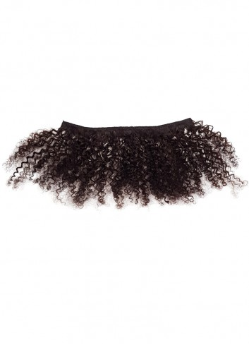 Afro kinky clipin natural brown