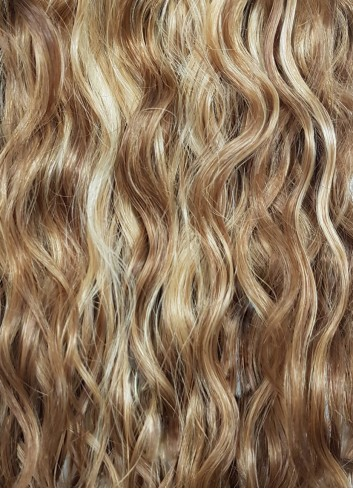 Natural curly Golden Blond