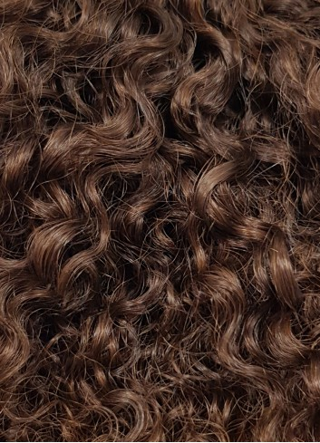 Afro kinky clipin golden brown