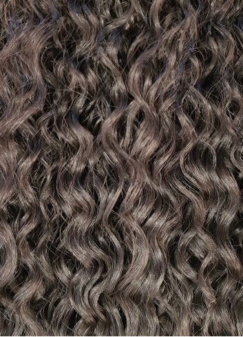 Kinky curly clip in Natural Brown