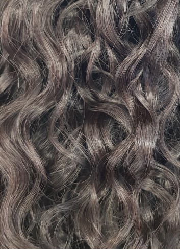 Natural curly Clip in Natural brown