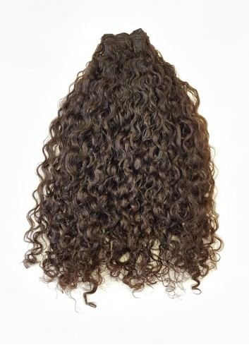 Kinky curly Natural Brown