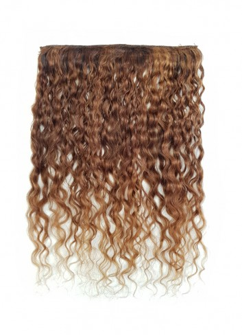 Kinky curly clip in Golden Blond