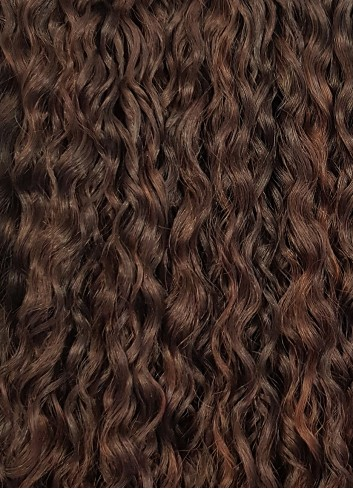 Kinky curly clip in Golden Brown